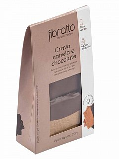 Biscoito Integral de Cravo Canela e Chocolate 70g Fibratto