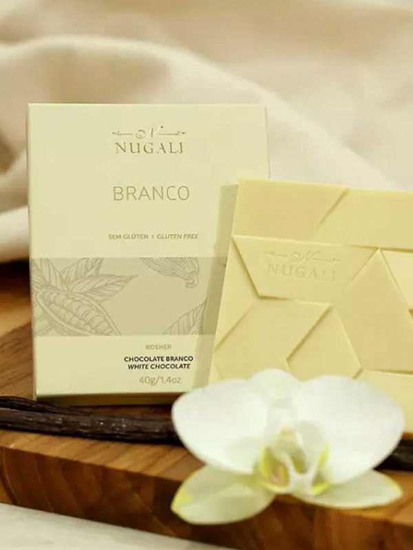 Tablete Chocolate Branco 40g Nugali