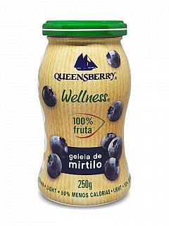 Geleia de Blueberry Mirtilo 100% Fruta 250g Queensberry