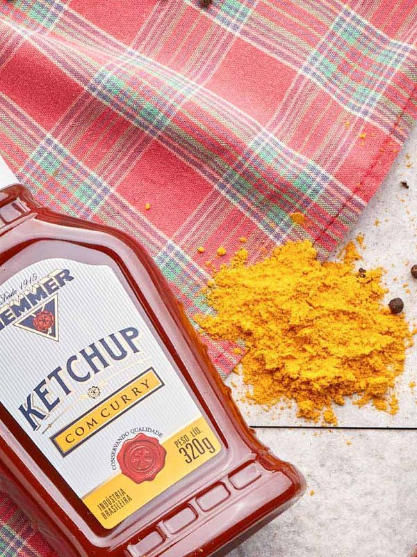 Ketchup com Curry 320g Hemmer