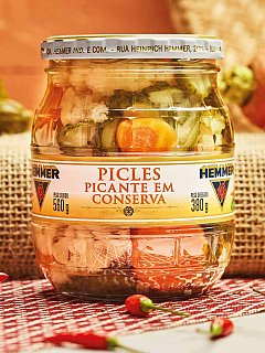 Picles Picante Conserva 380g Hemmer